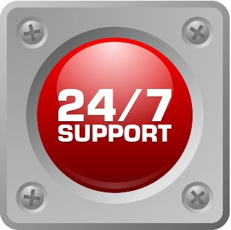 24/7 – Around-the-clock support